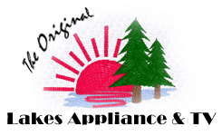 The Original Lakes Appliance & TV Logo